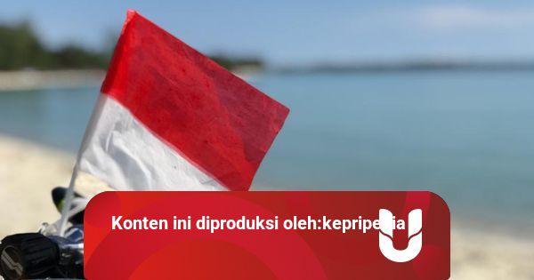 Foto: Merah Putih Berkibar di Laut dan Angkasa Bintan