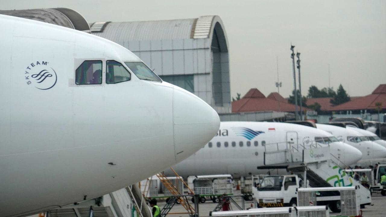 Garuda Indonesia di Bandara Soekarno Hatta