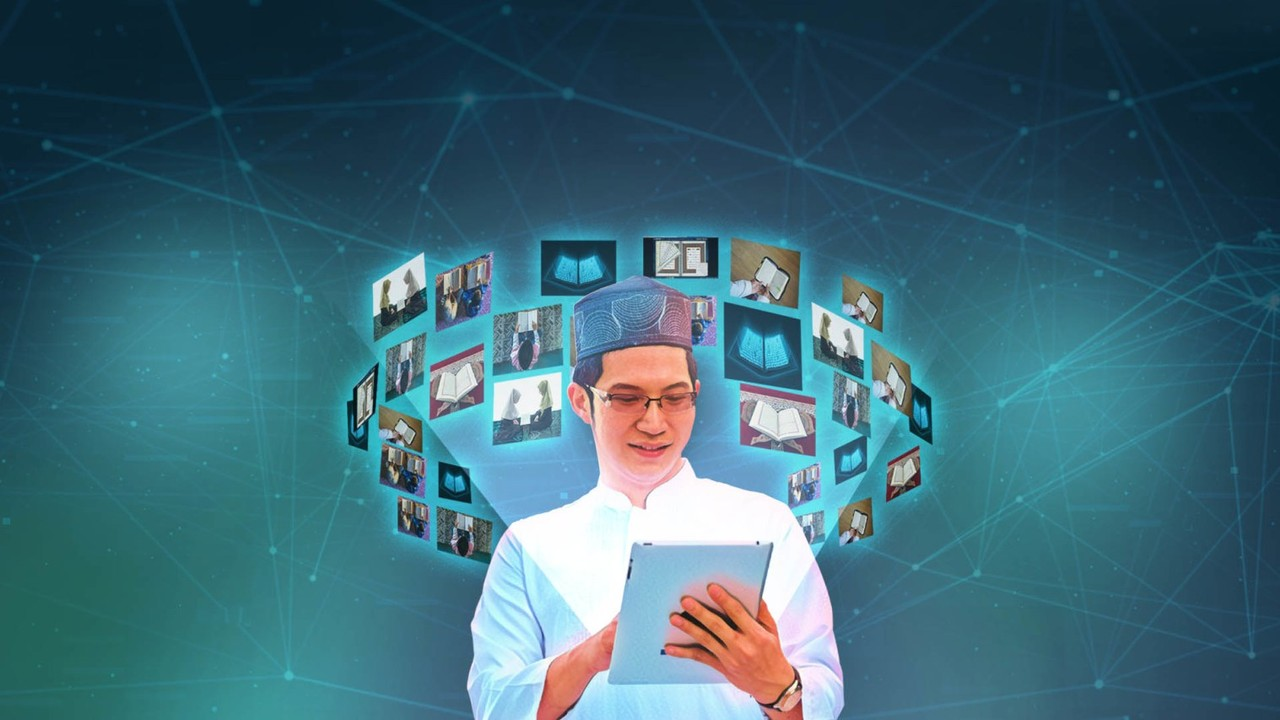 Ilustrasi Pesantren Virtual
