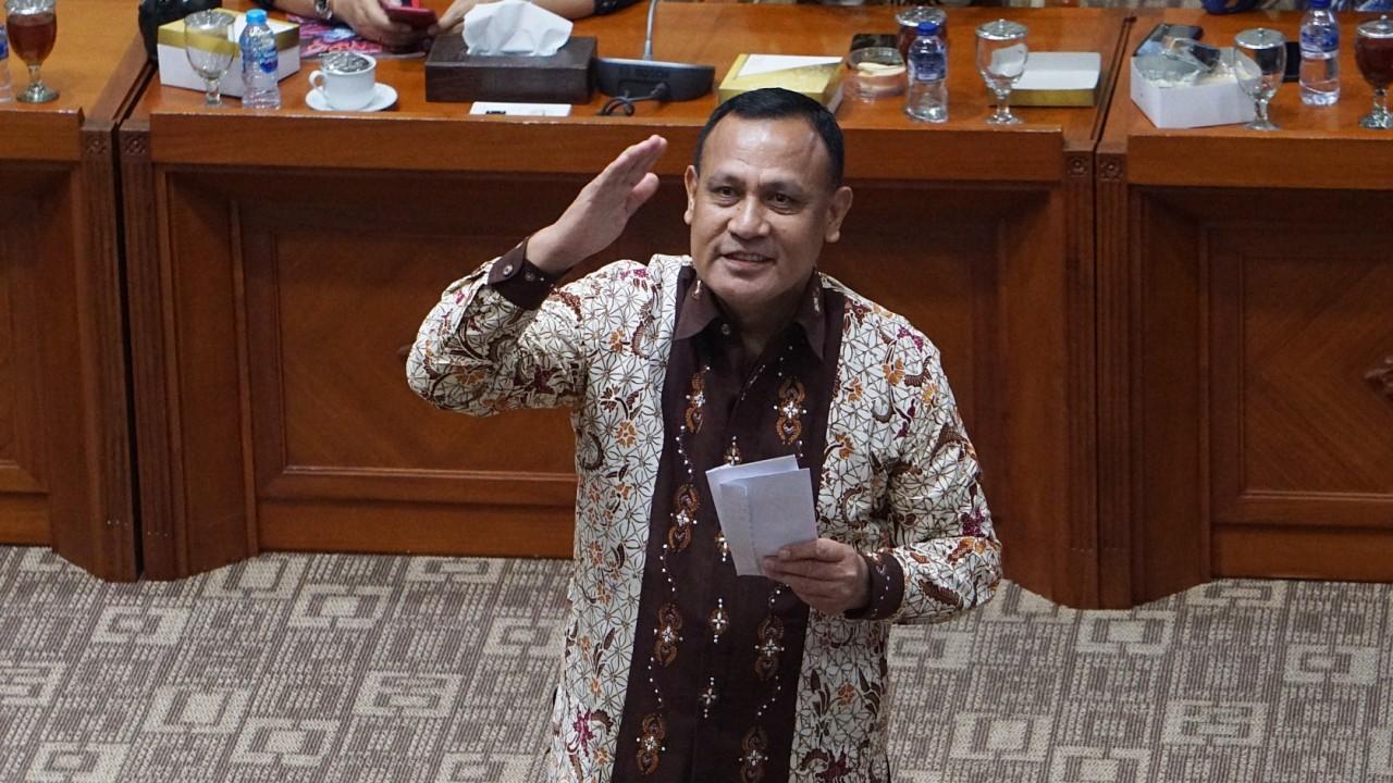 Calon Pimpinan Komisi Pemberantasan Korupsi (KPK), Irjen Pol Firli Bahuri, pembuatan makalah di Komisi III DPR RI, Komplek Parlemen