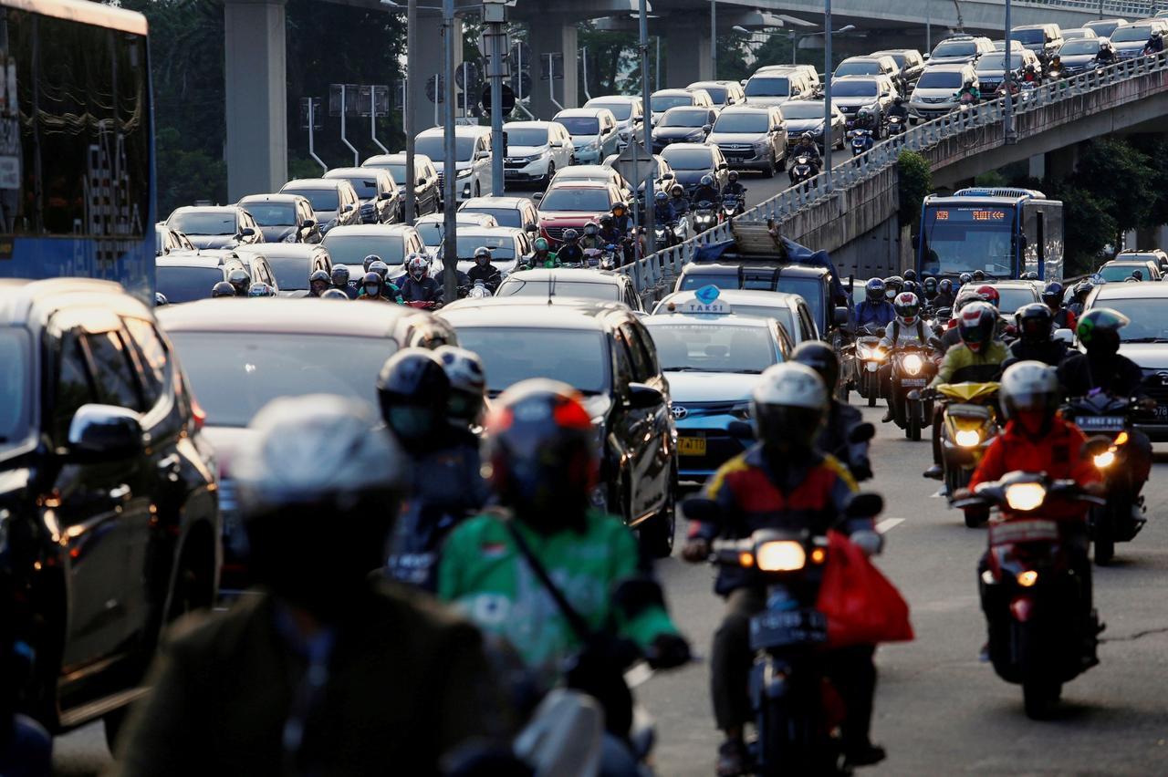 Kemacetan lalu lintas Jakarta saat PSBB