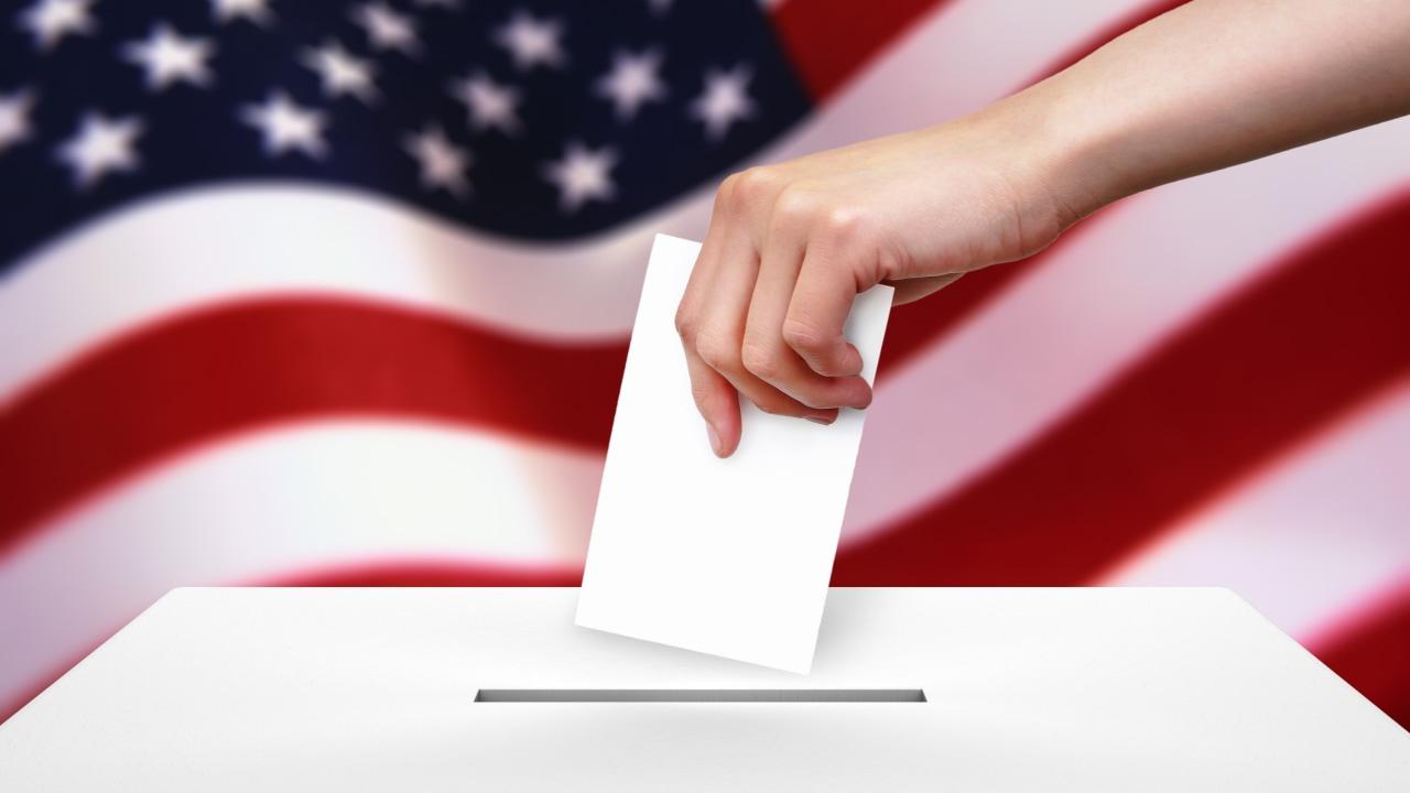 Ilustrasi kotak suara di Pemilu Amerika Serikat