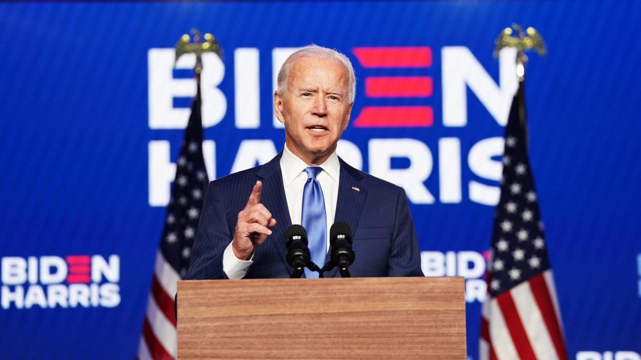 Konferensi Pers Joe Biden di Wilmington, Delaware, US.