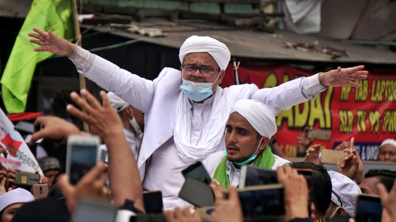 Habib Rizieq Syihab tiba di Petamburan