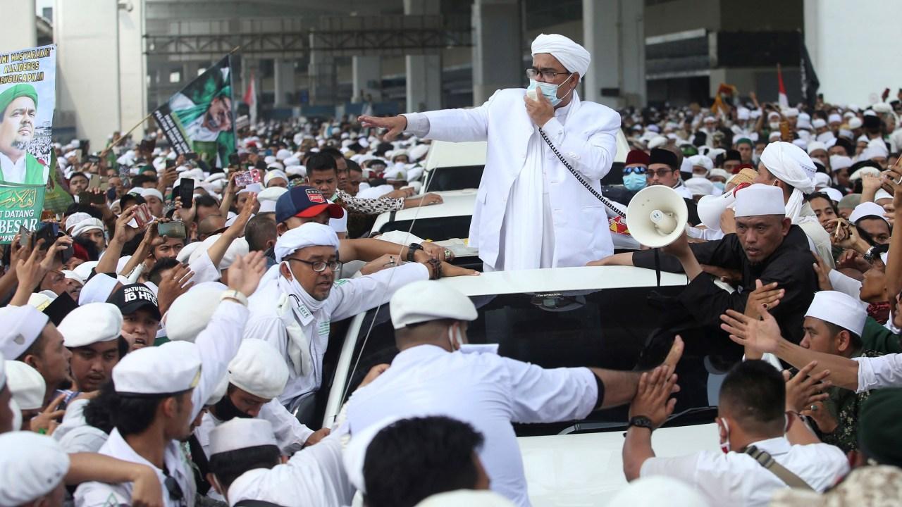 Habib Rizieq Syihab tiba di Bandara Soekarno Hatta