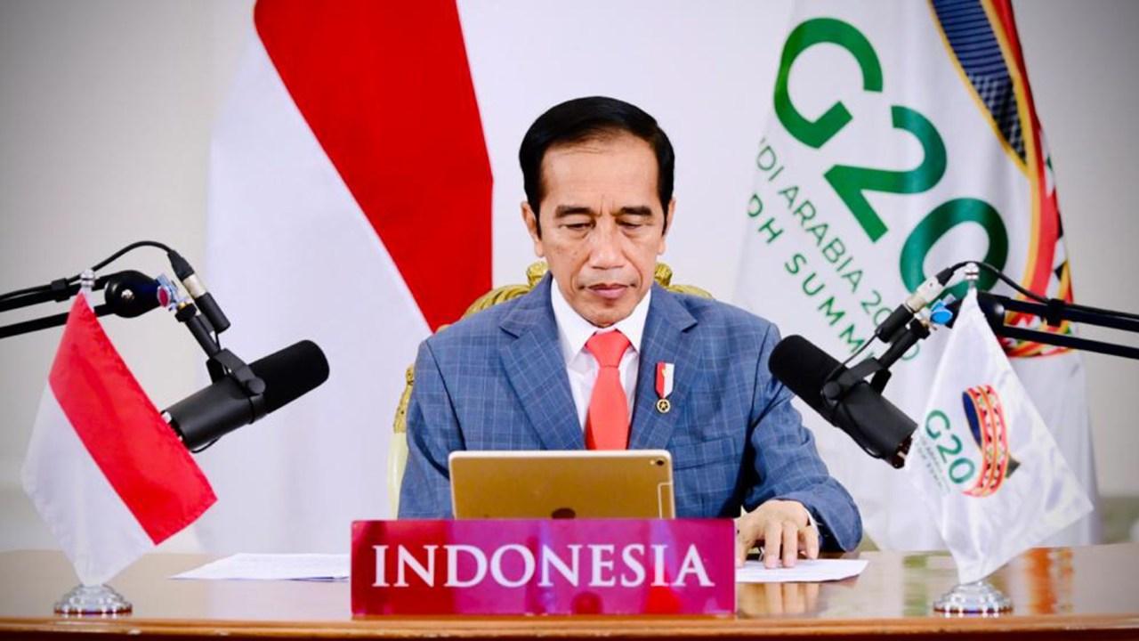 Presiden Jokowi hadiri KTT G20 Tahun 2020 secara virtual.