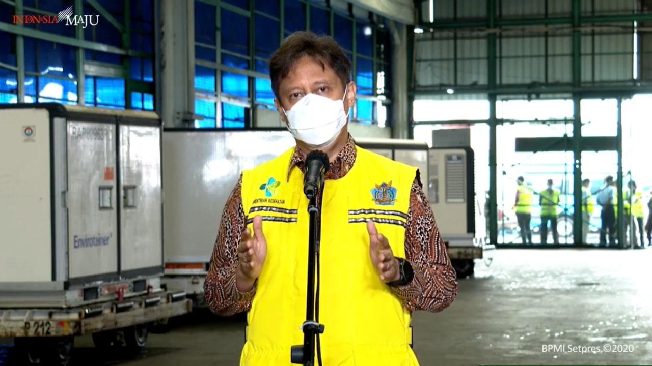 Menkes Budi Gunadi- vaksin sinovac tiba di Bandara Soetta