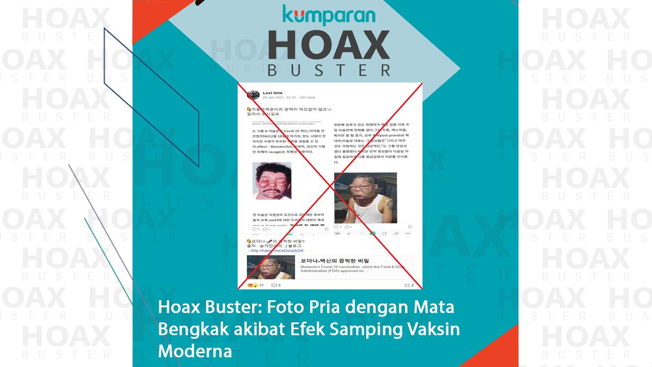 Hoaxbuster- Foto Pria dengan Mata Bengkak