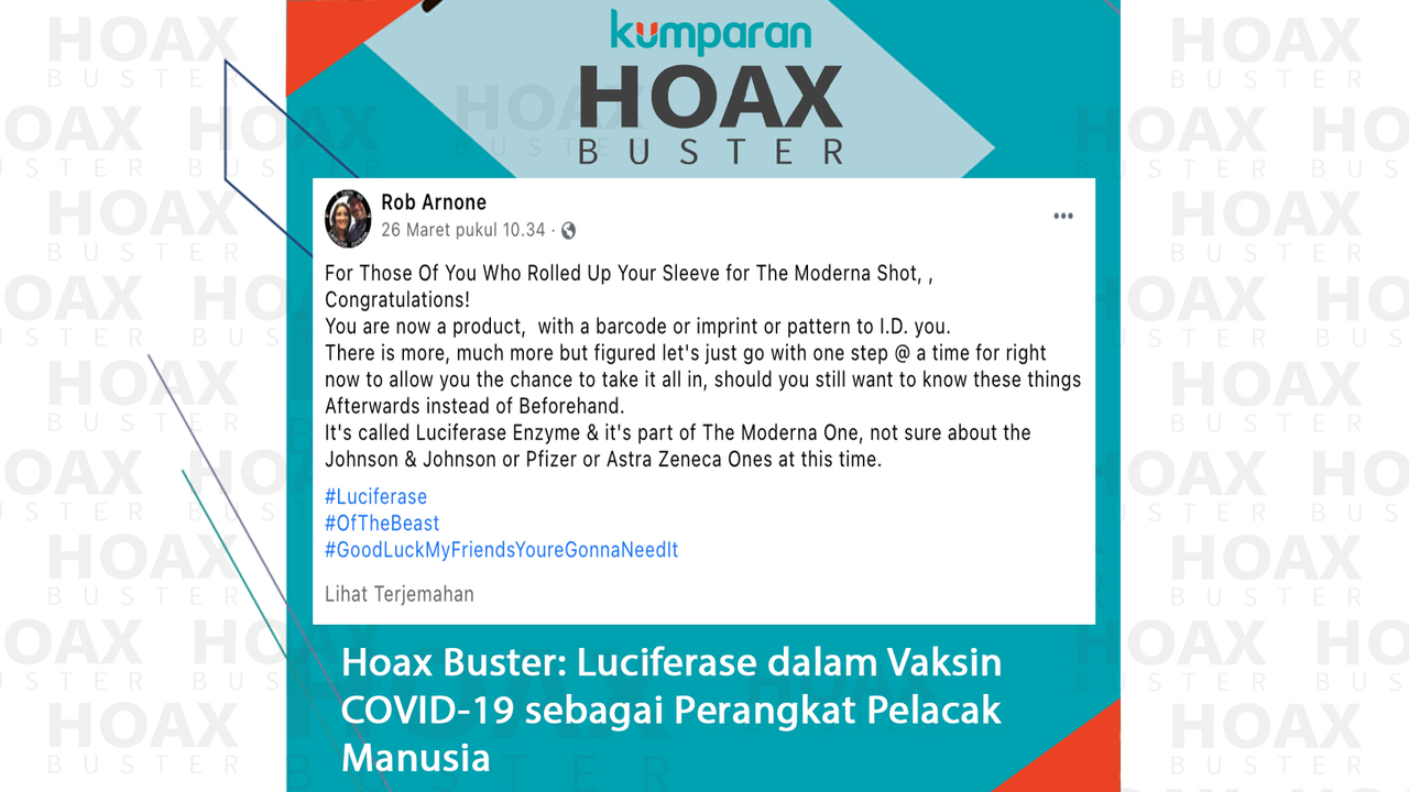 Hoaxbuster- Luciferase dalam Vaksin COVID-19