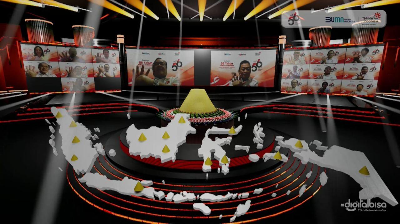 Syukuran 56 Tahun Telkom Indonesia secara virtual.