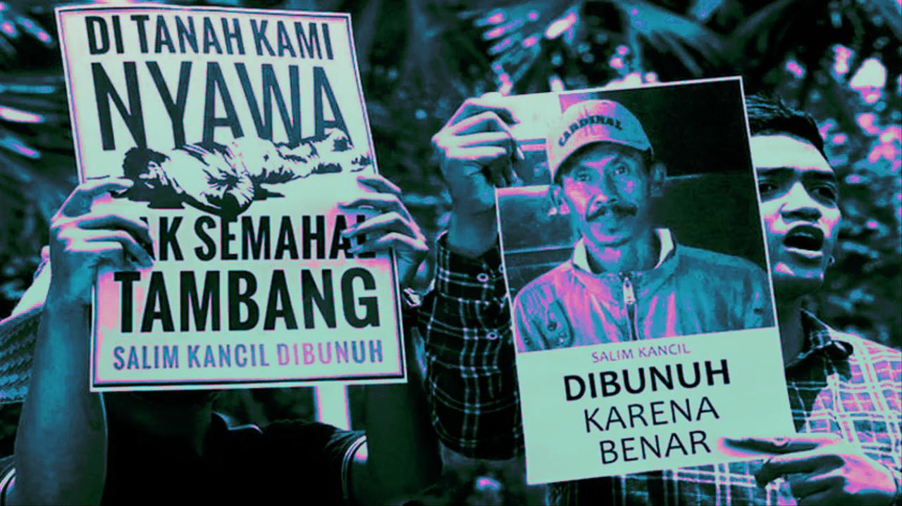 Aksi solidaritas Salim Kancil