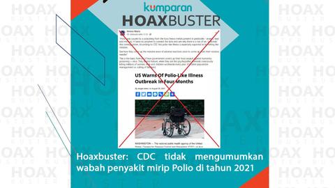 Hoaxbuster: CDC AS Umumkan Wabah Penyakit Mirip Polio di 2021