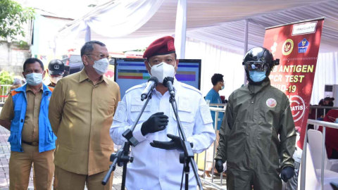 BIN Gelar Tes Swab Massal di Tangerang Selatan