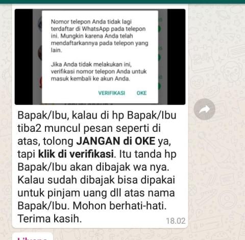 Viral Peretasan Whatsapp Minta Verifikasi Nomor Hp Ini Yang Harus Dilakukan Kumparan Com