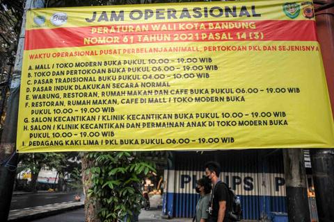 Foto: Suasana Sepi Bandung saat PPKM Diperpanjang (1)