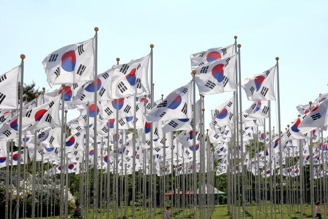 Ilustrasi Bendera Korea Selatan