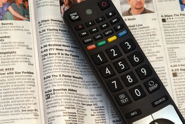Ilustrasi remote TV