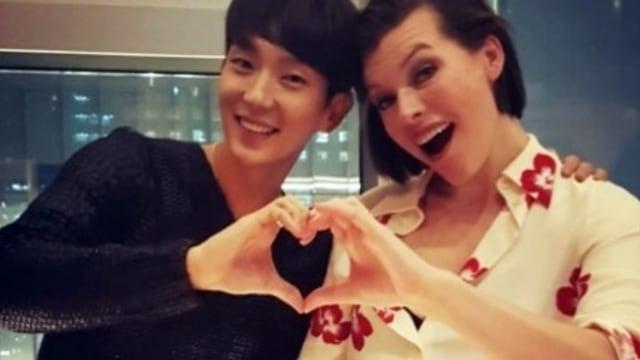 Lee Jun Ki Welcome To Korea Milla Jovovich Kumparan Com