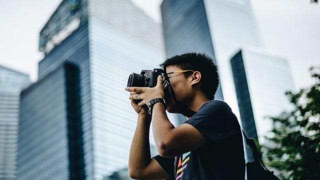 Ilustrasi Fotografer Jalanan.