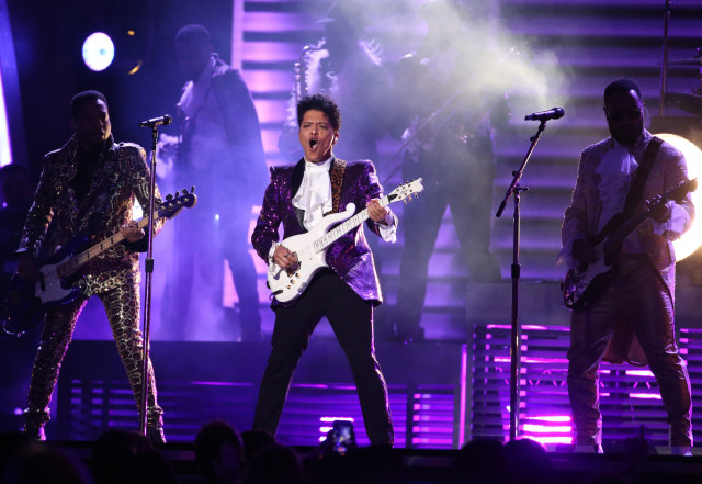 Penampilan Bruno Mars di Grammy Awards.