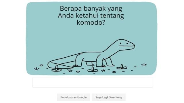 Google doodle Komodo