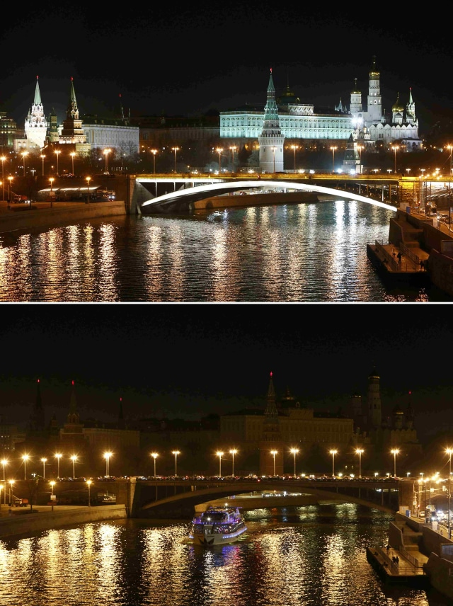 Earth Hour di Kremlin, Rusia