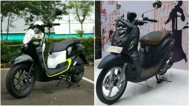 Adu Fitur Honda Scoopy Dan Yamaha Fino Grande Kumparan Com