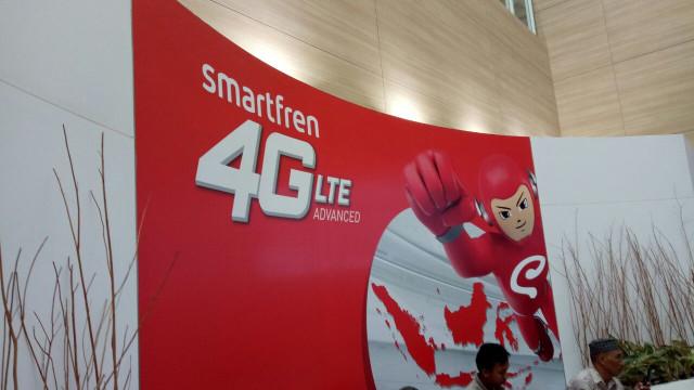 Kantor pusat Smartfren di Jalan Sabang, Jakarta.
