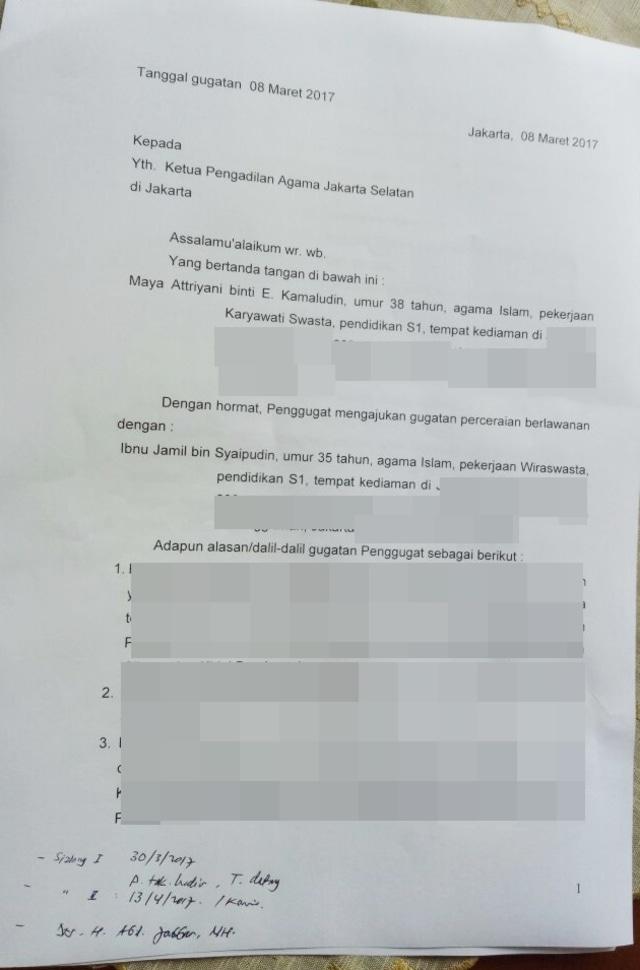 Ibnu Jamil Layangkan Permohonan Talak Cerai Ke Pa Jakarta
