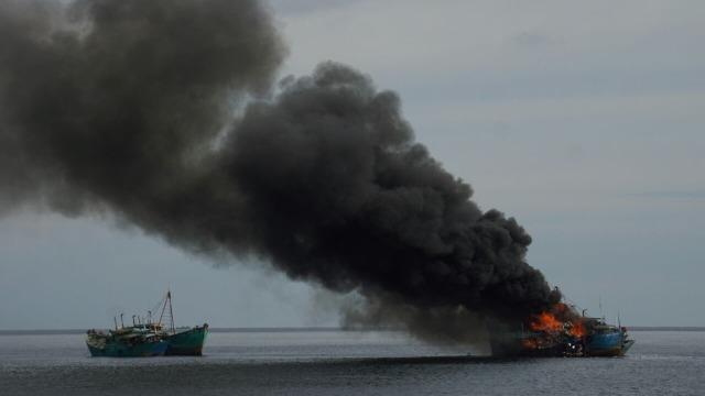 Peledakkan Kapal di Pontianak, Kalimantan Barat