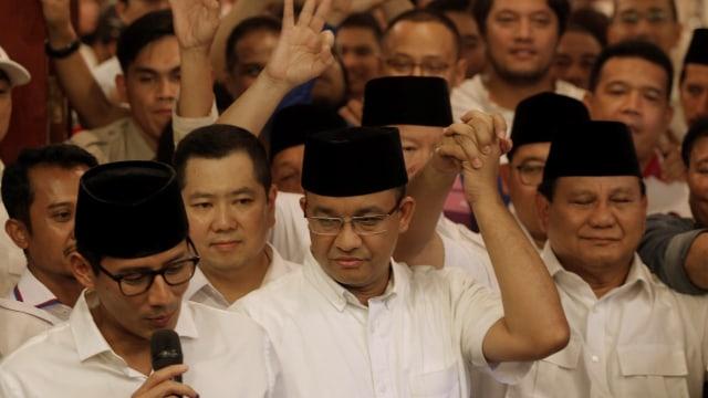 Sandiaga, Anies, dan Prabowo