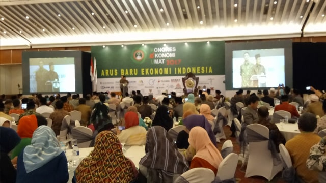 Jusuf Kalla di Kongres Ekonomi Umat 2017