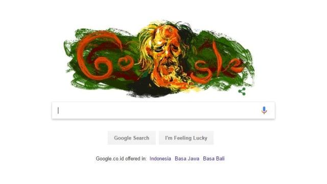 Google doodle Affandi.