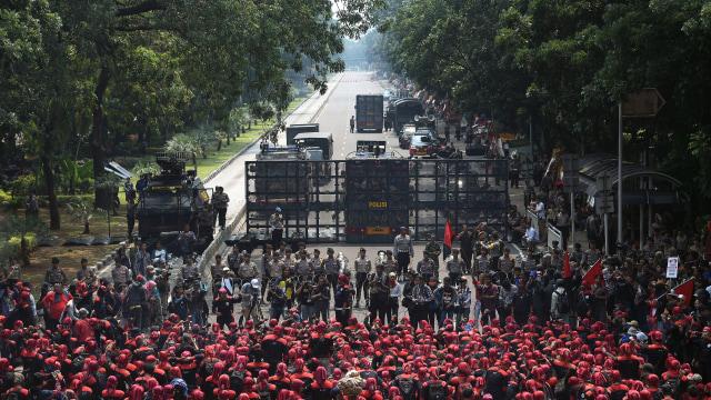 8.500 Personel Akan Dikerahkan untuk Amankan Demo Buruh Besok (134526)