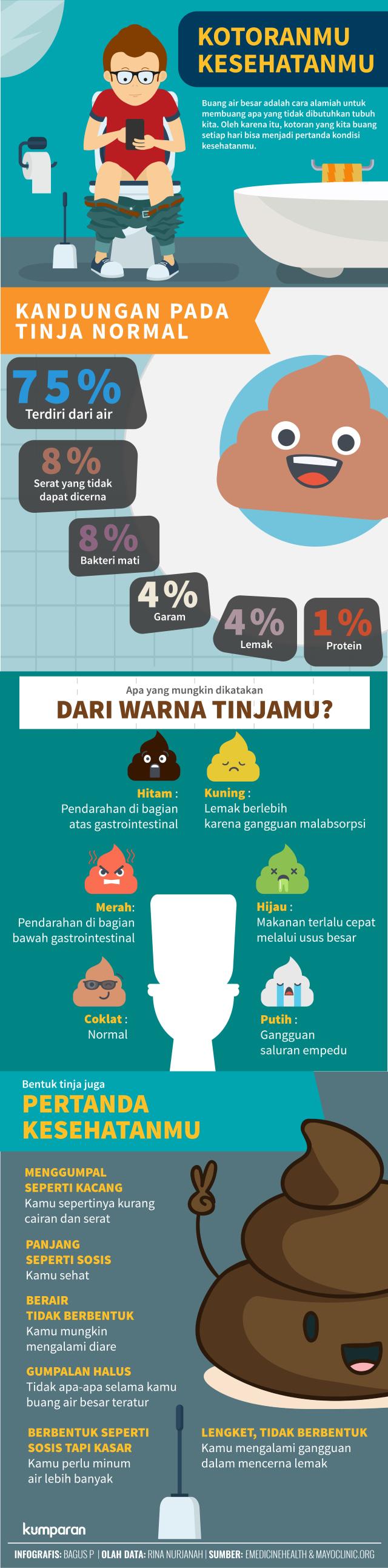 Infografis Tinja dan Kesehatan