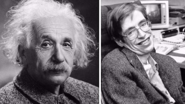 Albert einstein dan Stephen Hawking