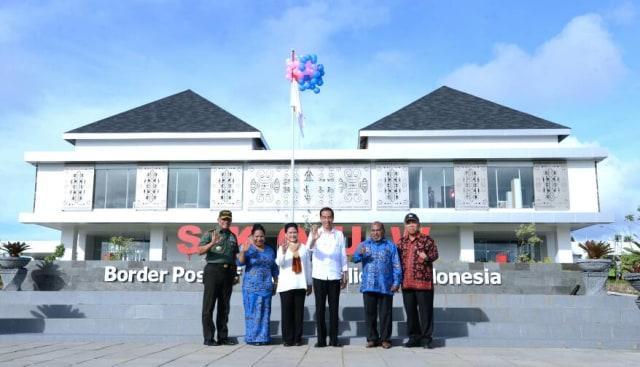 Jokowi meresmikan Pos Lintas Batas Papua