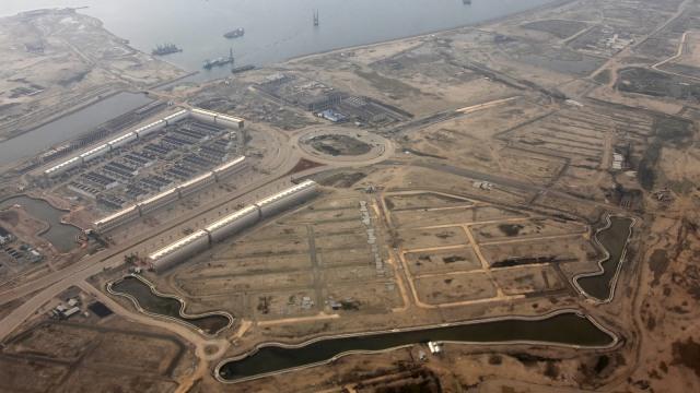 Foto Udara Proyek Reklamasi Teluk Jakarta