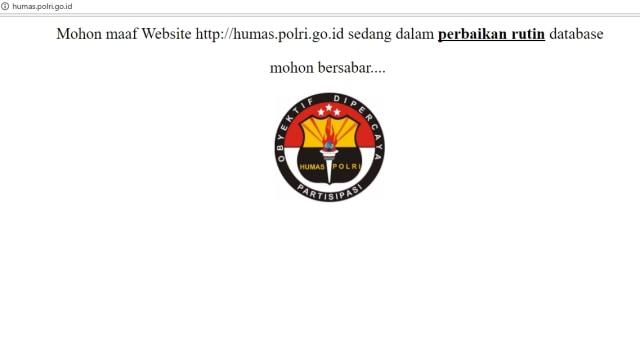 Mabes Polri: Website Humas Kami dalam Perbaikan, Bukan Diretas (252067)