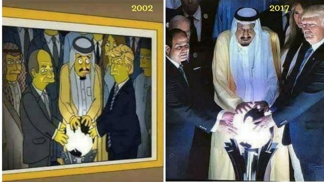 Hoaxbuster: The Simpsons Prediksi Momen Donald Trump dan Raja Salman (266845)