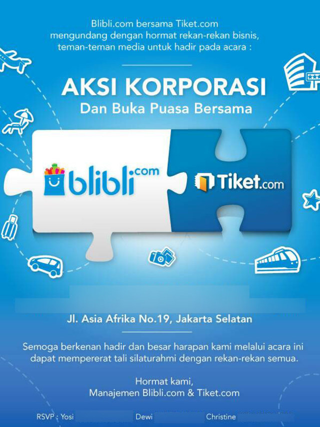 Aksi Korporasi Blibli dan Tiket.com (Not Cover)