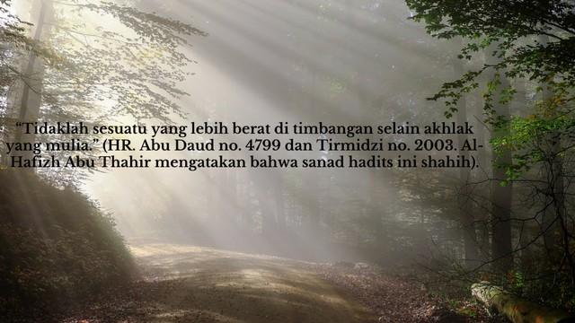 Hadits Shahih Tentang Akhlak Mulia - Hadits Dan Quotes