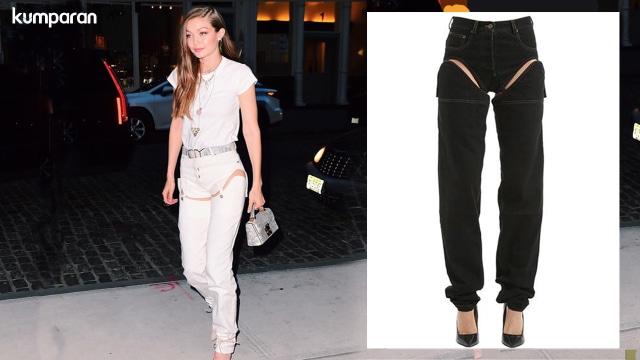 Dipakai Gigi Hadid, Jeans Unik Ini Langsung Viral (389494)