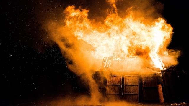 Ilustrasi ledakan.