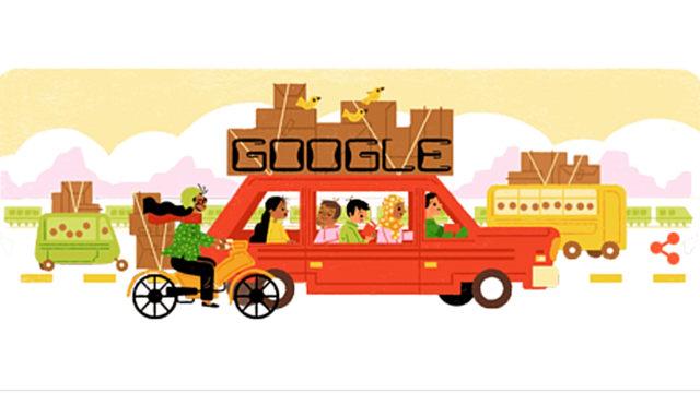 Google Doodle Mudik Lebaran 2017