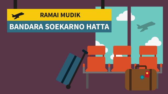 Infografis Ramai Mudik Bandara Soekarno Hatta