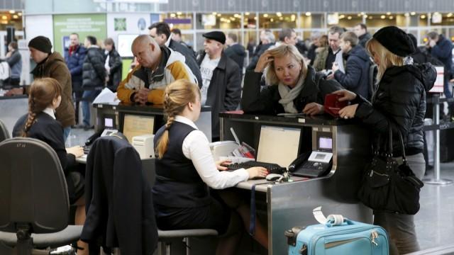 Penumpang di Bandara Boryspil