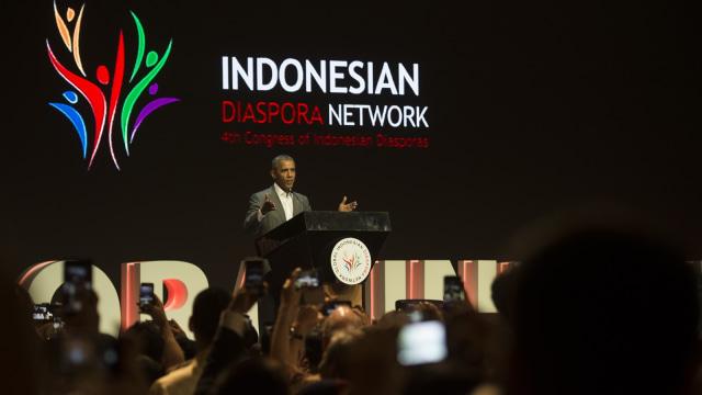 Obama di Kongres Diaspora Indonesia ke-4