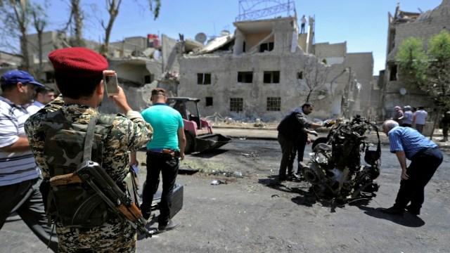 Bom mobil di Damaskus, Suriah