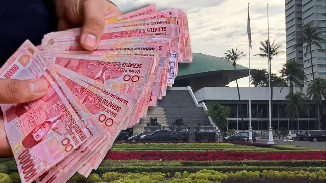 Ilustrasi Uang dan DPR